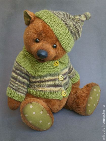 Teddy Bears handmade. Plato. Kuna Irina. Shop Online Fair Masters. Copyright teddy bears, glass beads