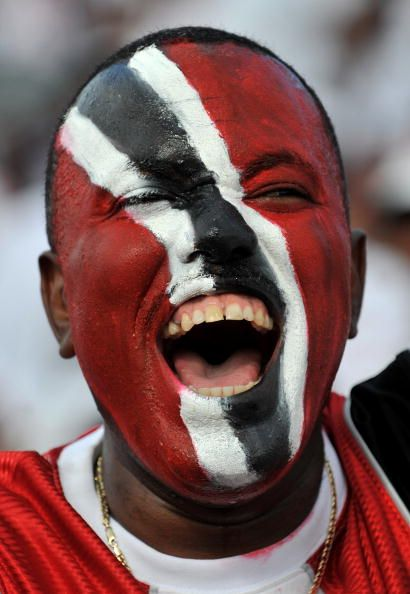 Local fans arrive early before the international friendly between Trinidad…