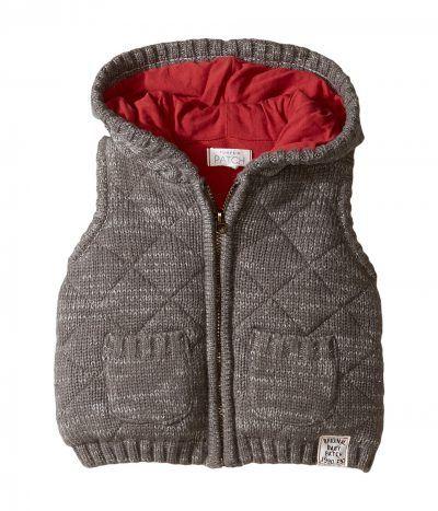 Pumpkin Patch Kids - Quilted Knit Vest (Infant) (Concrete Marle) Boy's Vest