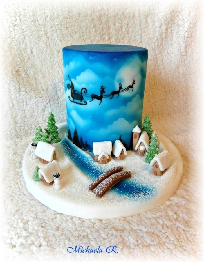 Winter Christmas cake by Mischell