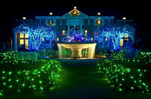 Atlanta Botanical Gardens - Christmas display.