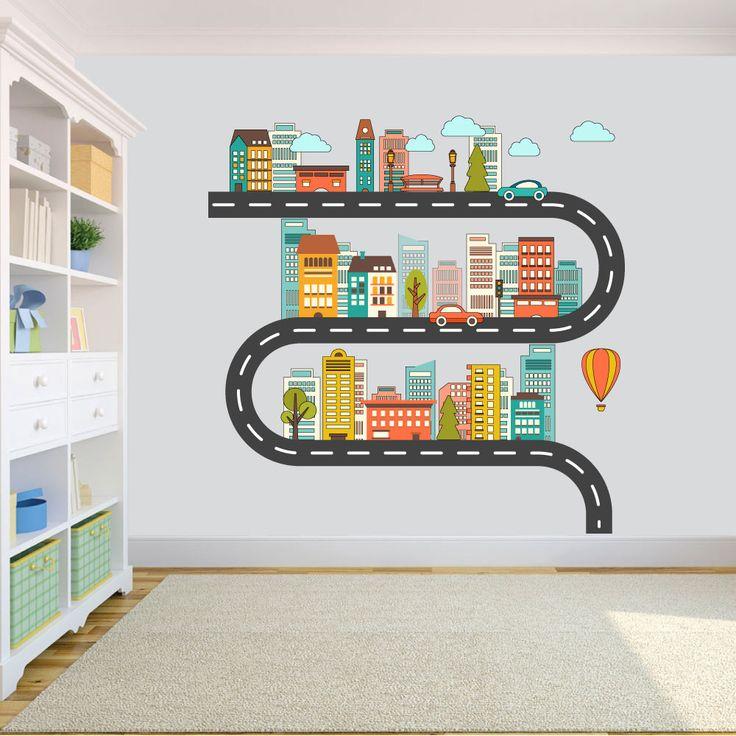 Αυτοκόλλητα τοίχου για παιδικό δωμάτιο -CITY LIFE .    Σετ από παιδικά αυτοκόλλητα τοίχου(2 καρτέλες 55x130 εκ).    Η τοποθέτηση γίνεται εύκολα και γρήγορα , χωρίς να αφήνουν κανένα σημάδι κατά την αφαίρεση τους.      Η παράδοση γίνεται σε 4 εργάσιμες ημέρες.