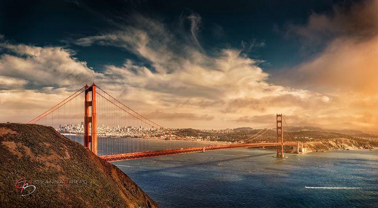Golden Gate Bridge Pano by Giovanna Griffo  Follow me on facebook: https://www.facebook.com/GiovannaGriffo.Photographer