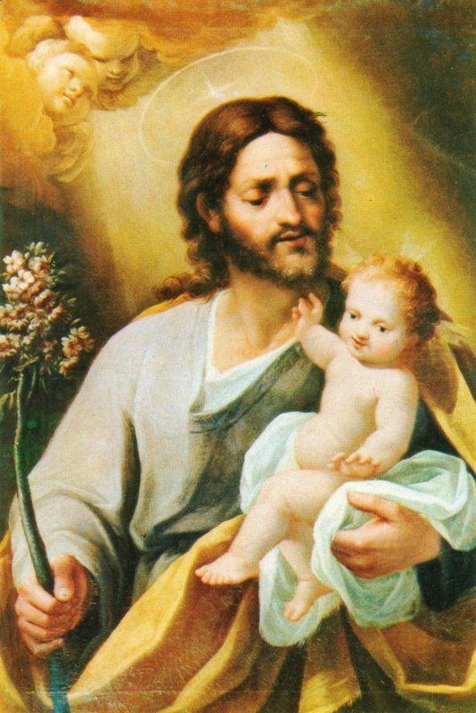 Trinidad soberana, nuestras preces/ benigna escucha; y haz que por JOSE/ gozar podamos del bien inmenso/ en otra vida./