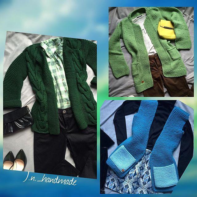 в зелено -голубых тонах #вналичие Изумрыдный кардиган -пиджак  42 размер  Цена : 4200 р. ❗️❗️❗️ Яблочный кардиган  40-42 размер  Цена : 3000 р.❗️❗️❗️ Бирюзовая жилетка с карманами  цвета ☁️ 42 размер  Цена : 3800 р.❗️❗️❗️ #ручнаяработа #jnhandmade #handmade #вяжутнетолькобабушки #look #musthave #весна2016 #изумрудный#яблочный#бирюзовый#морскаяволна #крупнаявязка #мода #вналичии #вналичиевмоскве #лучшиецены #купитькардиган #купитькардиганвмоскве #купитькардиган#жилет #...