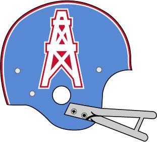 Houston Oilers helmet logo 1972 - 1974.