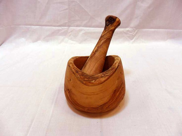 Handmade Wooden Rustic Mortar and Pestle