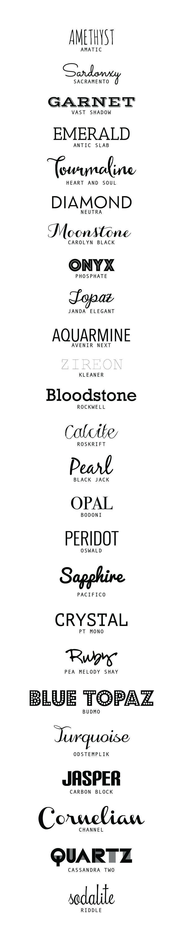 25 of the best Free Fonts | http://desireedreszer.com