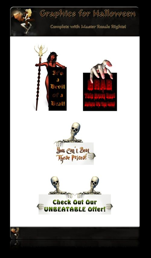 Graphics For Halloween - With Master Resale Rights