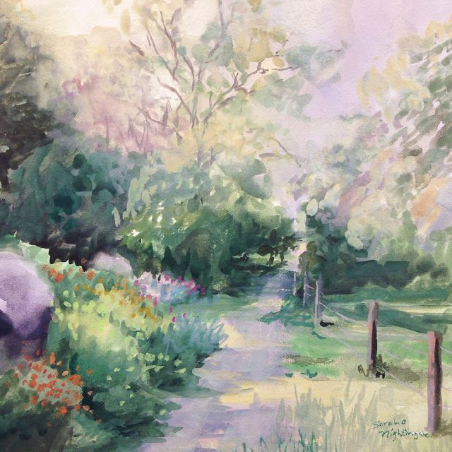 Horton Iris Farm - Watercolor - 12 Days of Paintings and Christmas