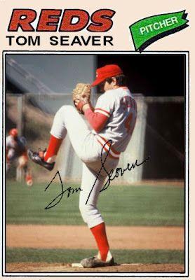 1977 Topps Tom Seaver, Cincinnati Reds, Baseball Cards That Never Were.