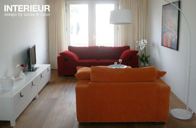 Een nieuw ingericht appartement met kleur portfolio 39 s interieurstylisten pinterest met - Kleur corridor appartement ...