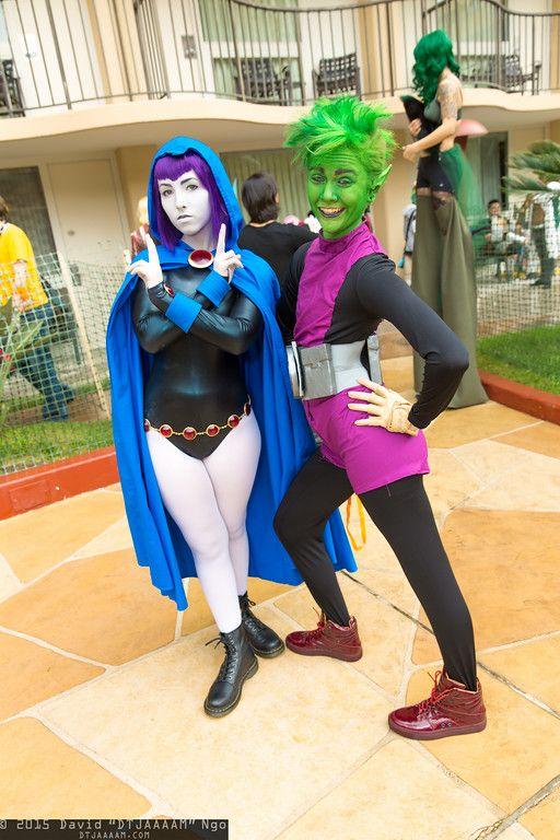 #Cosplay - #Raven & Beast Boy at Anime Los Angeles 2015 - Saturday