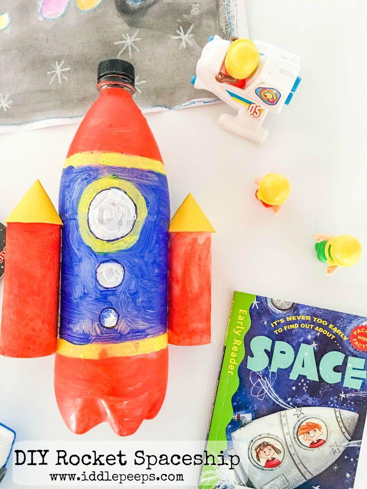 Diy Rocket Spaceship Recycled Crafts Kids Diy Rocket