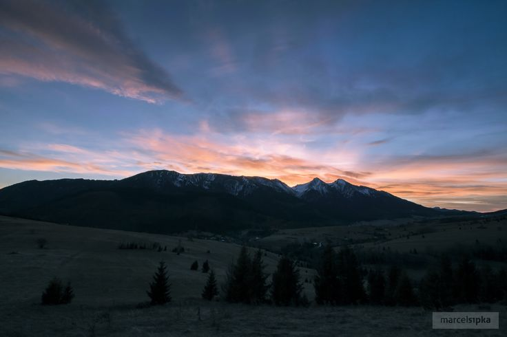 High Tatras, Slovakia #HighTatras #MountainsPhoto #Nature #Sunset