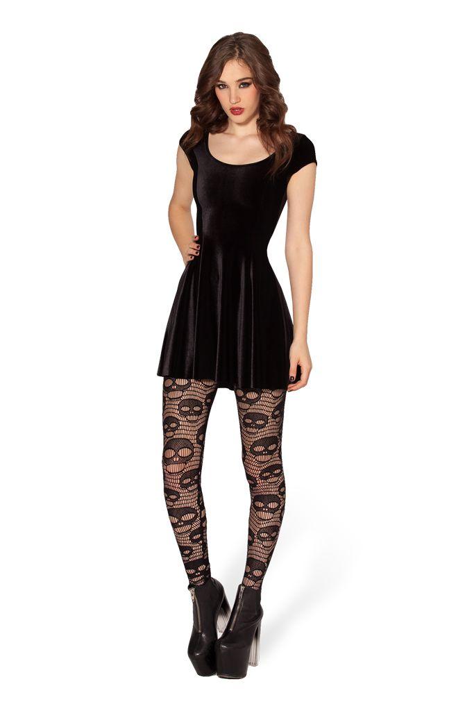F f black dress leggings