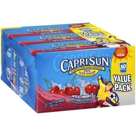 Capri Sun Wild Cherry Juice Drinks, 6 fl oz, 30 count