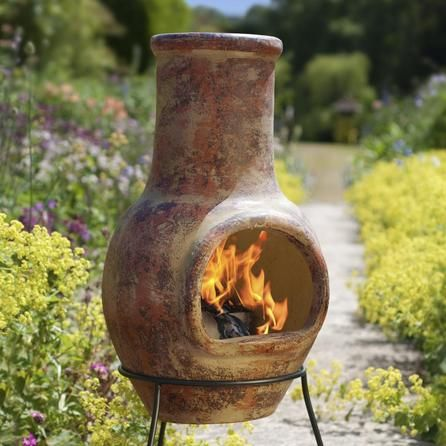 La Hacienda Plain Clay Chiminea #Dunelm #Summer #Outdoors #Gardening #Home