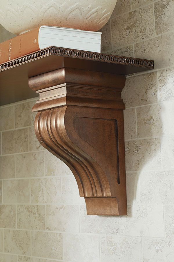 Simplified Elegance And Classic Formal Styling Of This Corbel Is Reminiscent Of European Palladian Architectu With Images Corbels Thomasville Cabinetry Wood Doors Interior