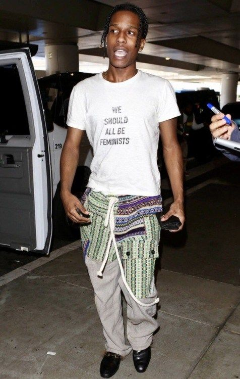 jordydior: A$AP Rocky wearing Dior at LAX.