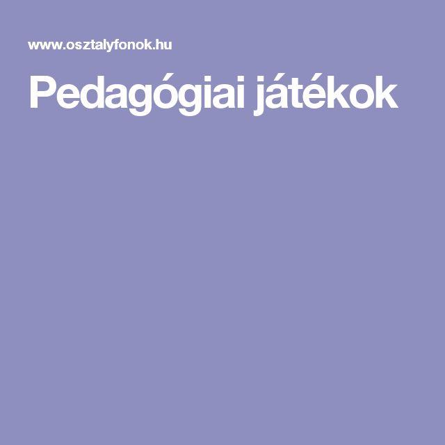 Pedagógiai játékok