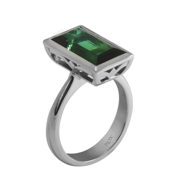 Tourmalines are such a dream! One of our designs, set in 9ct white gold.
