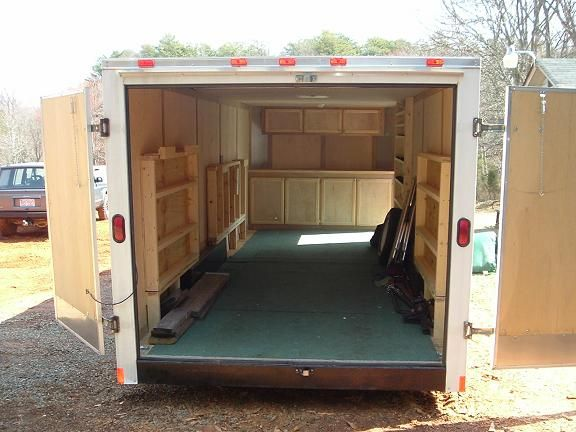 29 unique enclosed trailer camper ideas for Enclosed bed frame