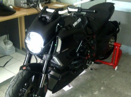 Ducati On My Garage and Black is My Favorite cause its Cool, What Do You Think ?