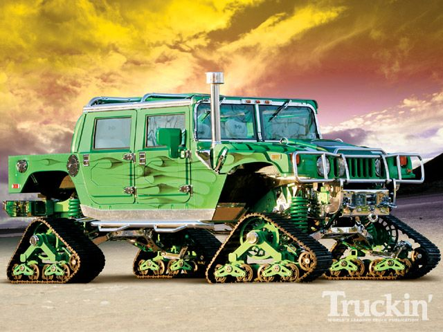 Wow, a Hummer with Mattracks has to be about the ultimate off road vehicle.