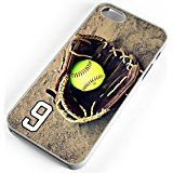 Cheap iPhone 4s 4 Case Softball Glove And Ball No Error Any Custom Jersey Number 9 White Rubber deals week
