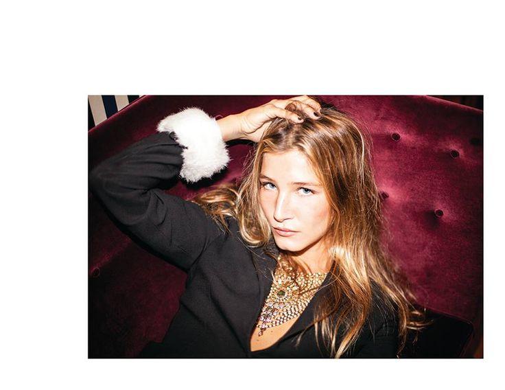 SOFIA LEITÃO for Morecco shoot by Maria Camera at Hotel Valverde Avenida da Liberdade Lisboa wearing White Rabbit Fur Cuffs by Morecco | © MORECCO 2014
