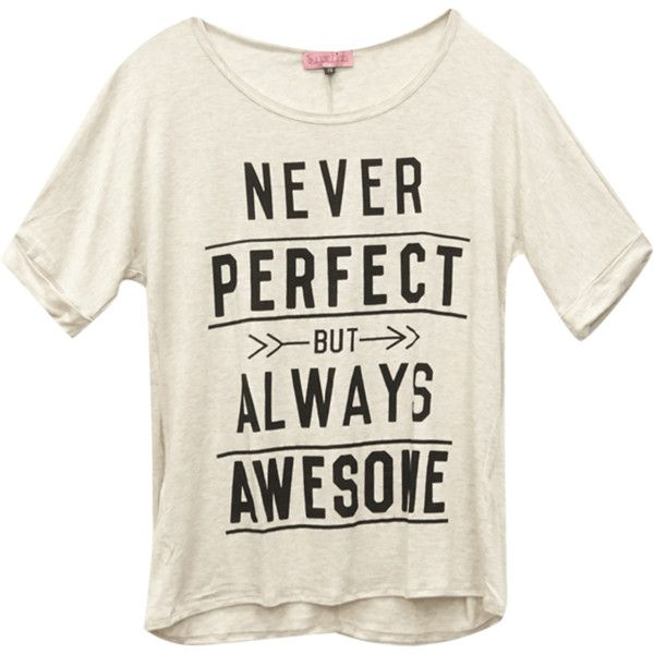 Wet Seal Plus Size Soft Always Awesome Tee ($15) ❤ liked on Polyvore featuring tops, t-shirts, shirts, screen print shirts, plus size tops, short sleeve t shirts, womens plus size shirts and women plus size tops