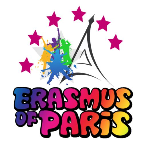 Erasmus of Paris Logo 500x514 px  Students' Accommodation, Information about Paris, Cultural Events, Parties and so much more!