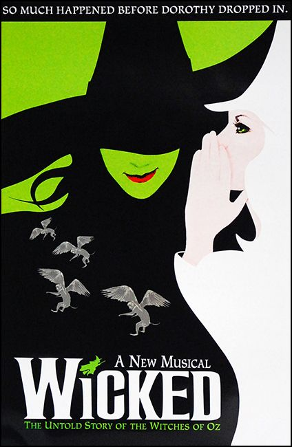 Wicked the Musical Official Broadway Poster at PlaybillStore.com