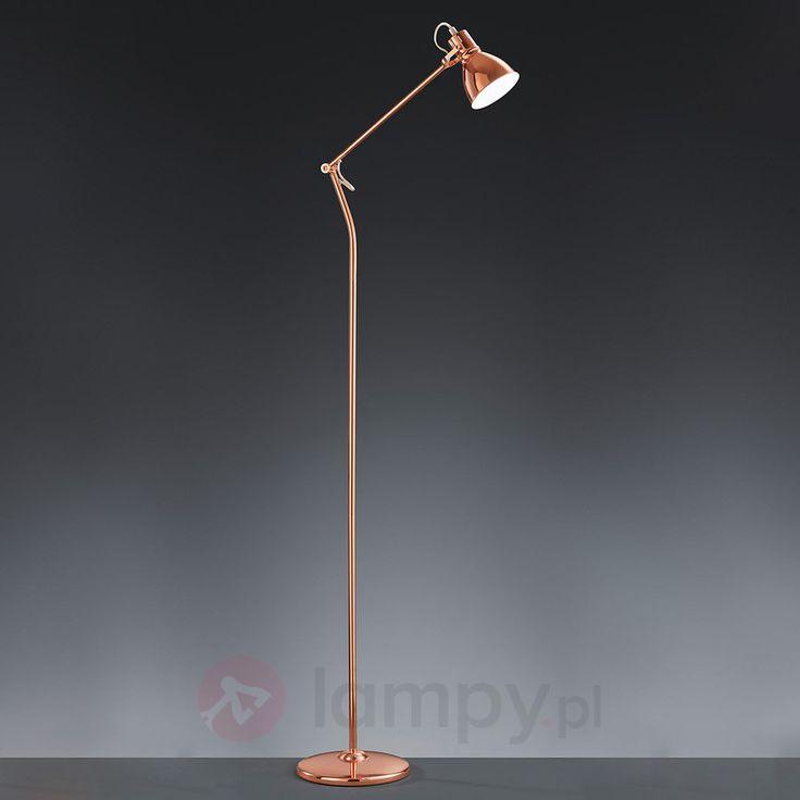 Miedziana lampa stojąca Keali 9004958