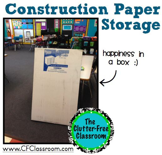 High Quality Clutter Free Classroom: Organizing Large Sheets Of Construction Paper