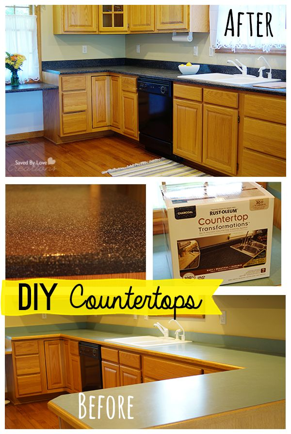 Rustoleum Countertop Paint On Wood : countertops on Pinterest Wood kitchen countertops, Wood countertops ...
