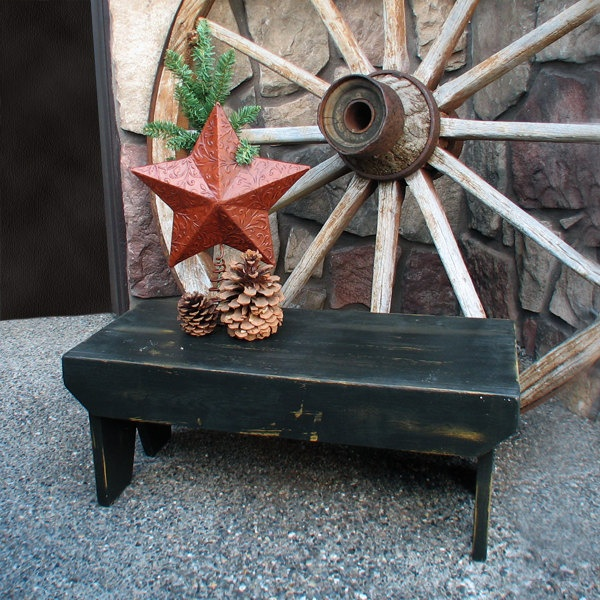 Large Farmhouse Stool - Hand painted stool rustic step stool x primitive bench & 8 best step stools images on Pinterest | Step stools Wooden ... islam-shia.org