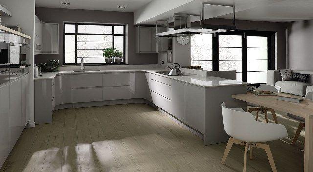 Best Remo Dove Grey Handless Kitchen Seating Area Kitchen 400 x 300