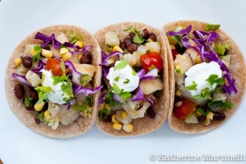 Fish tacos savory
