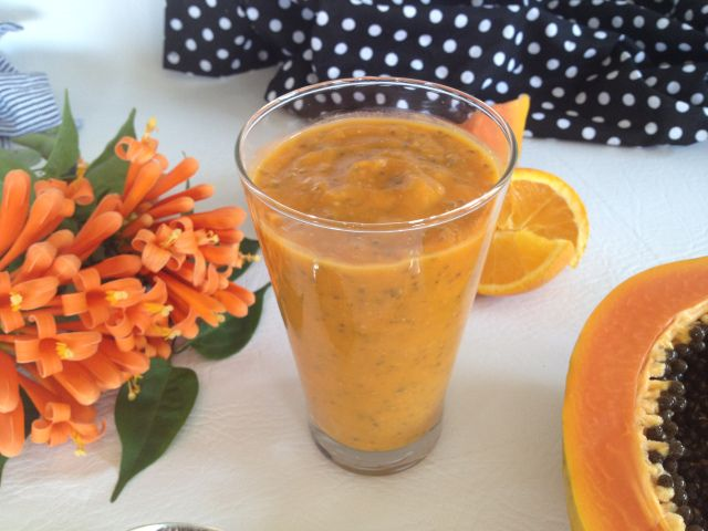 Orange Papaya Butternut and Chai Smoothie