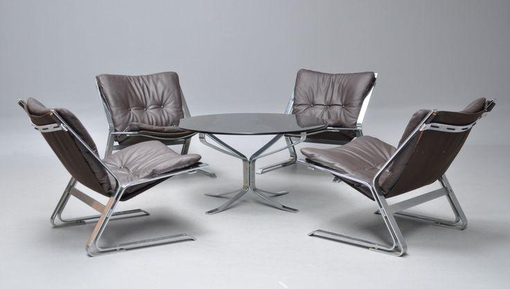 Elsa & Nordahl Solheim. Lounge-Garnitur Modell 'Pirate' (5)
