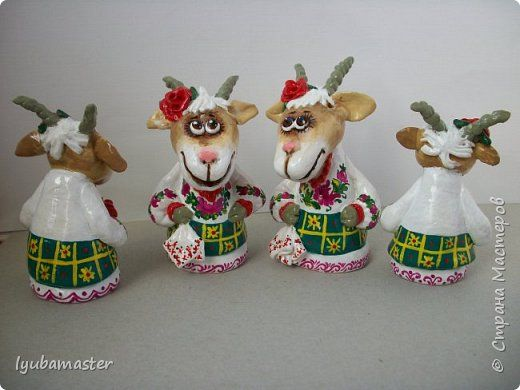 Master class crafts product New Year Modeling Goats Salt dough salt dough MK + 3 photos