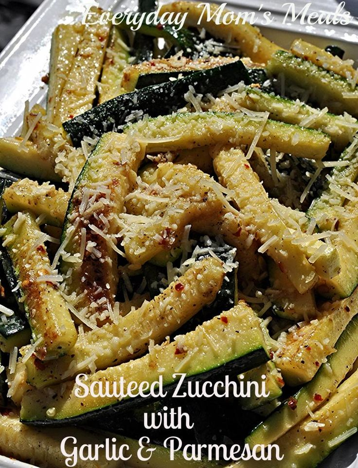 ~Sauteed Zucchini with Garlic  Parmesan~ The perfect use for all your backyard garden zucchini, this is simple yet scrumptious. A fantastic side dish to any summer meal, bursting with flavor.