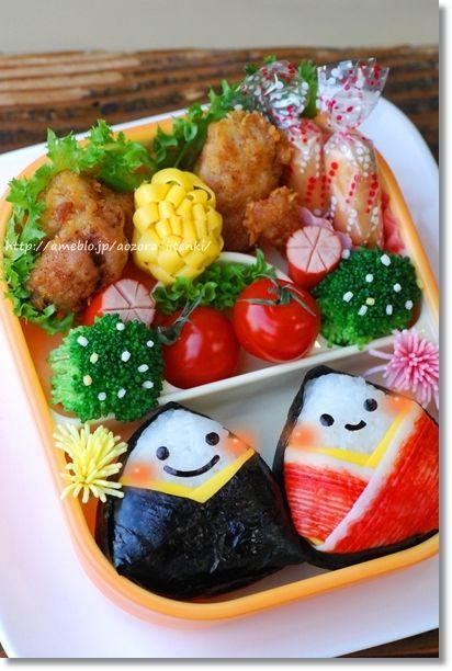 Onigiri hinamatsuri dolls