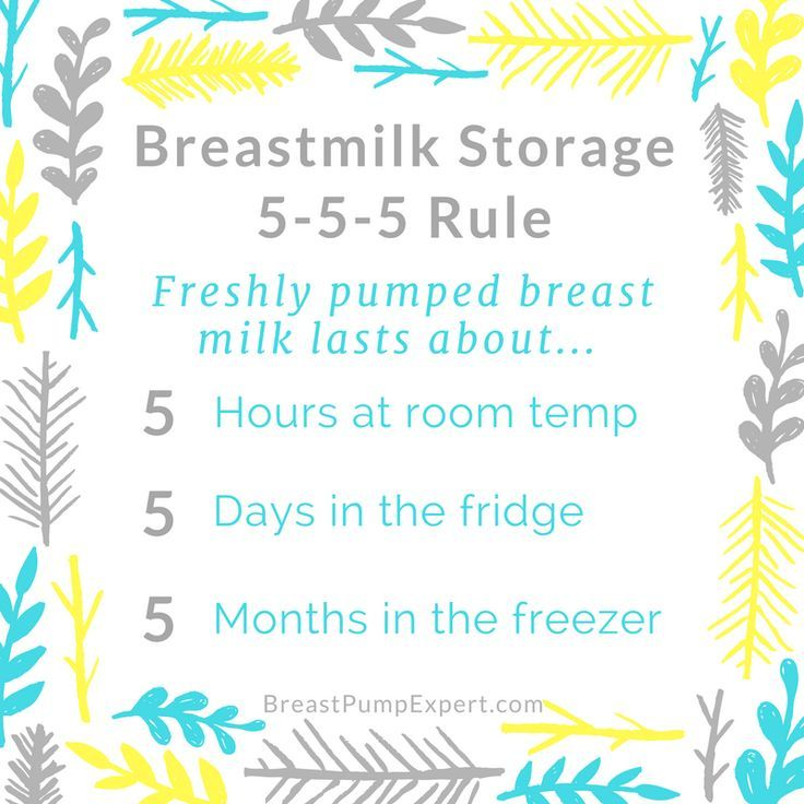 Breast milk Storage 555 Rule. Breastmilk storage guidelines. How long can breast milk sit out? How long can breastmilk keep in the fridge? Follow the 5-5-5 rule to keep breast milk fresh.