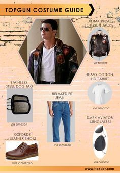 Top Gun Costume Guide!! Tom Cruise as ‪#‎Maverick‬ wore this Stylish ‪Top Gun Jacket in Top Gun movie. Now on Sale for ‪#‎Comiccon‬ at ‪#‎Georgia‬.