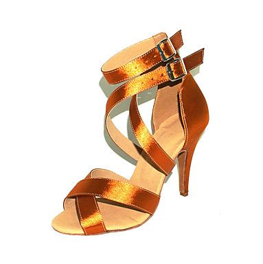 Customized Women's Satin Upper Ankle Strap Latin / Ballroom Dance Shoes (More Colors) – GBP £ 18.24