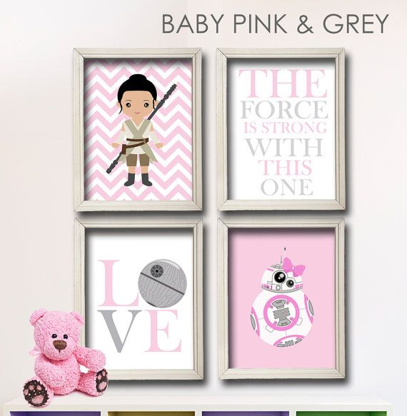 Fille Star Wars pépinière Art-Girl Room Decor par LilyLeilaRose