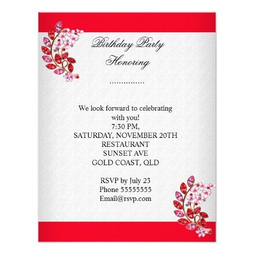 Best Th Birthday Invitations Images On Pinterest Birthday - Birthday invitation gold coast